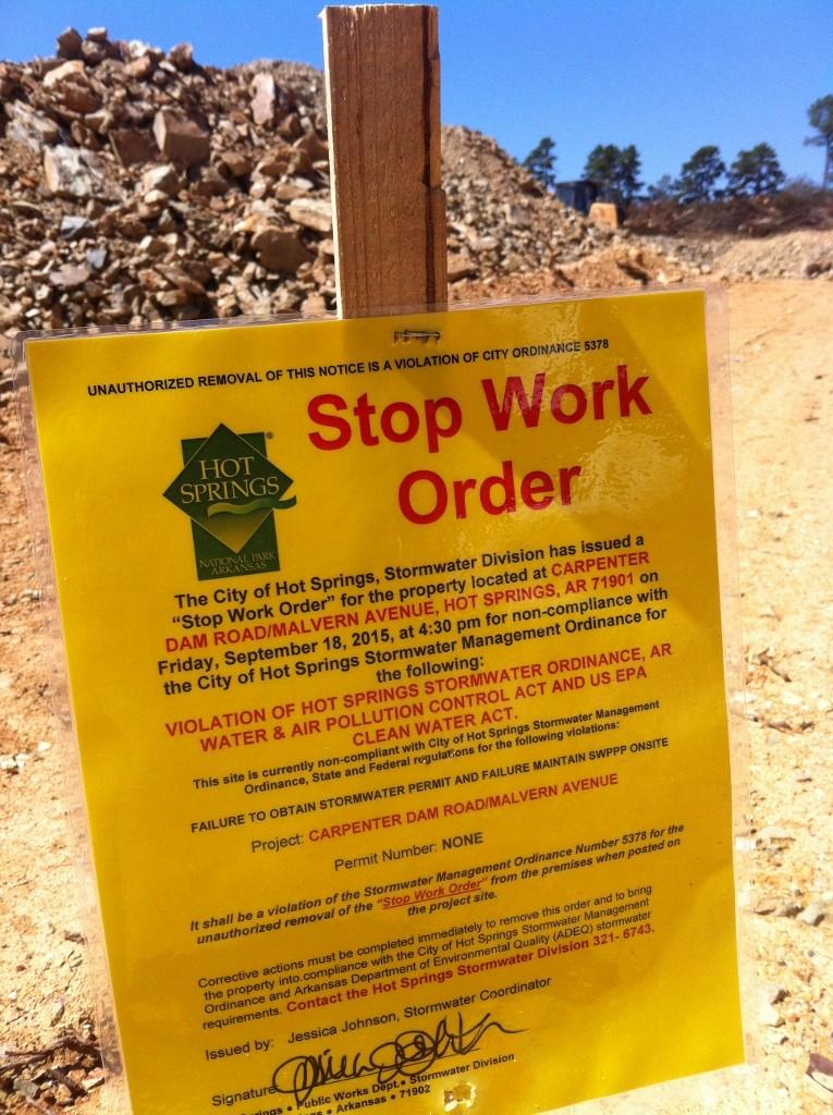 A violation @ Carpenter Dam & Malvern Ave.